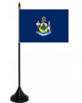Maine Desk / Table Flag with plastic stand and base.
